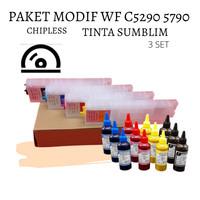 PAKET MODIF CHIPLESS DAN TINTA SUBLIM EPSON WF C5290 C5790 5290 5790