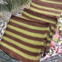 Kue Balapis Manado Pandan Coklat lapis