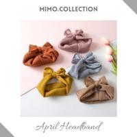 April Bow Baby Headband cotton pita Bando Bandana Turban Anak Bayi