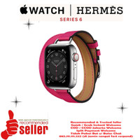 Apple Watch Series 6 Hermes Silver Stainles Steel Attelage Double Tour