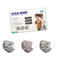 Masker Ateja Batik Series -Terbaru ( Flatfold & Adjustable Earloop)
