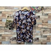 Kaos printing blossoms motif bunga atasan cowok distro pria t shirt