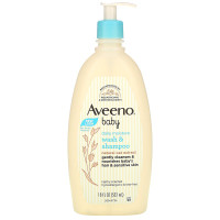 Aveeno Baby Daily Moisture Wash & Shampoo Lightly Scented 532ml 532 ml