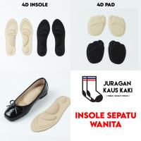 Insole Sepatu Wanita 4D Sol Dalam Soft Pad Bantalan Kaki Flat Shoes