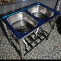 westafel cuci piring/ westafel cuci tangan/ bak cuci piring 2 lobang