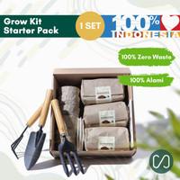 Paket Berkebun Tanaman Organik Lengkap - Grow Kit Semua Usia