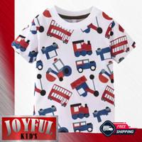 Baju / Kaos Atasan Anak Laki-laki TRACTOR MINI MERAH 1 - 10 Tahun