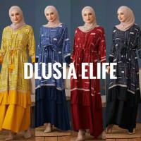 ORI DLUSIA ELIFE maxi dress arab/india/dubai/turki busui katun rayon
