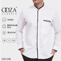 Baju Koko Modern Pria Lengan Panjang Putih