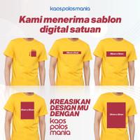 Sablon Custom Satuan Bebas Desain Kaos KPM Apparel Soft Premium 30S