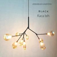 L880 9L LAMPU GANTUNG HIAS KACA FIREFLY DECOR MEWAH KUNANG KUNANG LIGH
