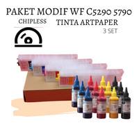 PAKET MODIF CHIPLESS DAN TINTA ARTPAPER EPSON WF C5290 C5790 5290 5790