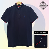 Size M-LD98 Giordano Original POLO SHIRT PRIA KAOS KERAH Navy Cowo