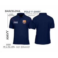Kaos pria polo/wangky Bola BARCA football Bisa COD Pria/wanita - Navy, M