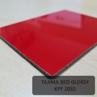 ACP Tajima 1220x2440x3mm PE Indoor Aluminium Composite Panel - Red Glossy