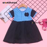 Dress Maudy uk 1-6 Tahun / baju Balita Cewek Harian Gaun Pesta Murah D