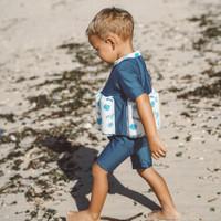 Summertide Boys Short Sleeve Floatsuit   Baju Renang Pelampung Anak