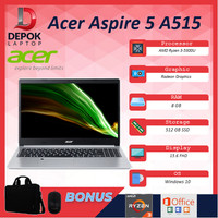 Acer Aspire 5 Slim A515 Ryzen 3 5300 8GB 512ssd Vega5 W10+OHS 15.6HD