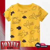 Baju / Kaos Atasan Anak Laki-laki PESAWAT KUNING 1 - 10 Tahun