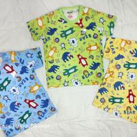 Baju bayi dan anak oblong pendek print tokusen/kaos katun/SNI/