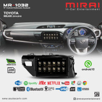 Headunit Android 10 inch Toyota Hilux 2014-2020 Mirai 1032