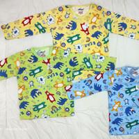 Baju bayi oblong panjang motif Tokusen/kaos katun/SNI/