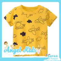 Baju Anak / Kaos Anak Laki-laki PESAWAT KUNING 1 - 10 Tahun