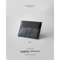 Artolouis - Art#99 CARTA Camouflage - 6 card leather wallet (NAVY)