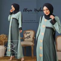 ORI DLUSIA NASHA maxi dress arab/india/dubai/turki busui katun rayon