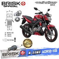Busi Motor Brisk Premium Xline Tipe - AOR12-X8 Vixion 2013