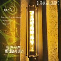 L632 1L LAMPU DINDING KAFE LAMPU BOHLAM EDISON LED VINTAGE RETRO - Led lurus, Tipe B