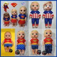 Baju Boneka Baby Alive MellChan Wonder Woman SuperGirl Superhero