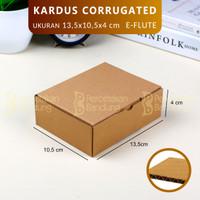 KARDUS CORRUGATED 13.5X10.5X4  DIE CUT   KOTAK KARTON   BOX PACKING  