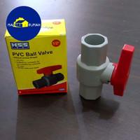 BALLVALVE Ball Valve PVC Plastik Stopkran Stop Kran 1/2 - HSS 1/2inch