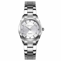Jam Tangan Analog Wanita Luxury SKMEI 1620 Waterproof (ORI) - Silver