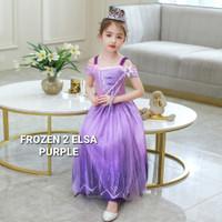 TOKYOBERRY FROZEN 2 ELSA PURPLE dress kostum anak perempuan pesta gaun