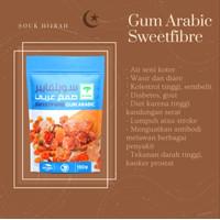 Gum Arabic Sweetfibre Asli Herbal Obat Penyakit Gum Arab Getah Akasia