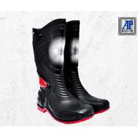 Sepatu Boot Karet AP Moto 3 Ori Murah - 38