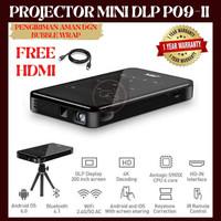 Projector DLP P09-II Mini DLP Proyektor 4K HD 50ANSI Lumens 1GB / 8GB