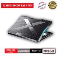 Cooling Pad Coolingpad Kipas Pendingin | Cooler Laptop Gaming 6 Fan Q3