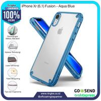 Ringke iPhone Xr Fusion Aqua Blue Softcase Anti Crack Military Drop