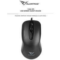 Alcatroz Silent Mouse Wired Stealth 5 (1200cpi) 2 Tahun Garansi Resmi
