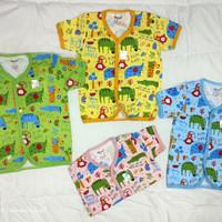 Baju bayi dan anak lengan pendek kancing depan Tokusen/SNI/