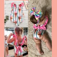 Baju renang bayi 3bln-4thn Pita Ice Cream swimsuit kids import