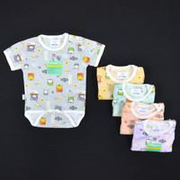 HAYAYO 1 Pcs Baju Kodok Segitiga / Jumper Bayi/Baby Motif Pastel (0-3M