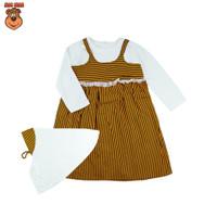 MacBear Baju Anak Perempuan Gamis Jumper Lebaran Collection Afizah