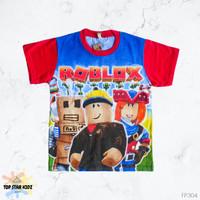 FP304 Baju Kaos Anak Laki-laki 1-10 tahun Cowok Sablon Robot Roblox