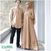Baju Couple Pasangan Muslim Model Gamis Couple Suami Istri Megan