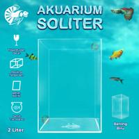 Aquarium Akuarium Soliter Mini Akrilik Acrylic Ikan Cupang 2 liter