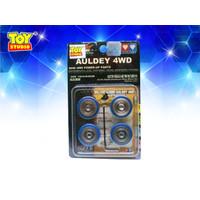 Mainan Mobil Tamiya Auldey Go For Speed Spare Part Aluminium Wheel